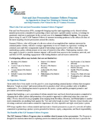 2019 FJP Summer Fellows Program Two-Pager_FINAL - Fair and
